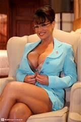 Sarah Palin lookalike cleavage