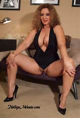 ... Latina Milf, Hotlips Melanie, spreads her high heeled legs and pussy