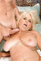 Busty mom in a blue dress Georgette Parks getting cum all over her ...