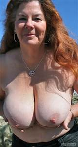 Tit Flash: Wife's Tanlined Big Tits - Topless MILF 63 from United ...
