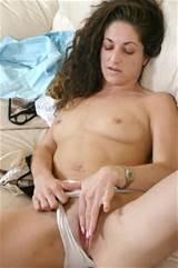 Horny milf masturbating with wet panties