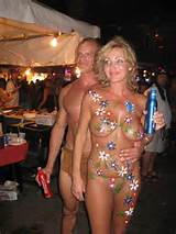 blonde MILF (with her hubby?) showing how things were in the Flower ...