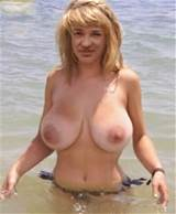milf with a nice big set of natural tits.