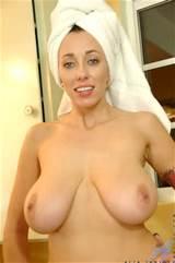 Busty milf washing her vagina