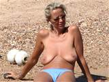 saggy milf at beach -