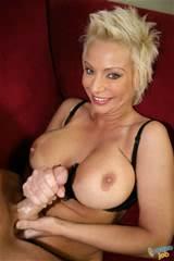 Big Tits Blonde MILF Jerk Big Cock