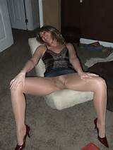 Drunk Wife Pantyhose Upskirt Legs Spread Wide